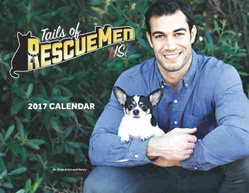 Tails of RescueMen USA 2017 Calendar - Cover